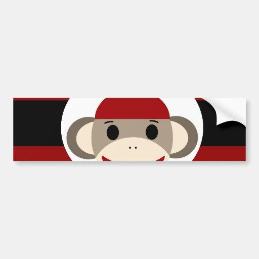 Rayas negras frescas del rojo del gorra de la gorr pegatina de parachoque