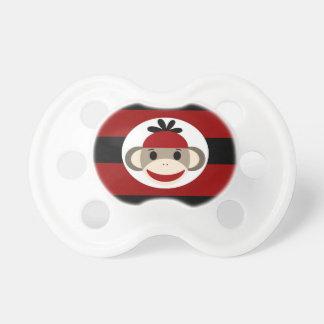 Rayas negras frescas del rojo del gorra de la gorr chupetes para bebés