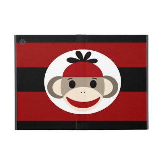 Rayas negras frescas del rojo del gorra de la gorr iPad mini funda