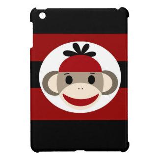 Rayas negras frescas del rojo del gorra de la gorr iPad mini carcasas