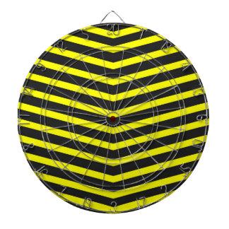 Rayas negras largas de moda populares del amarillo tabla dardos