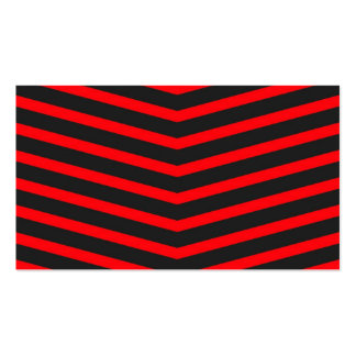Rayas negras largas de moda populares del rojo del tarjetas de visita