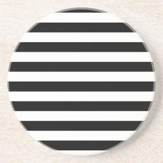 Rayas negras posavasos diseño