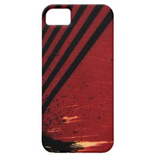 rayas negras rojas funda para iPhone SE/5/5s