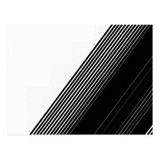 Rayas negras simples modernas y bloque blanco del tarjetas postales