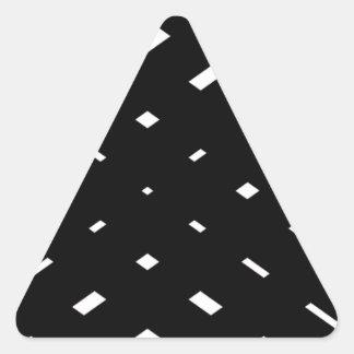 Rayas negras sobre stripes.gif pegatina triangular