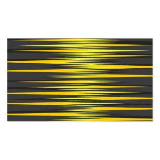 Rayas negras y amarillas tarjetas de visita