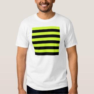 Rayas - negras y amarillo fluorescente poleras