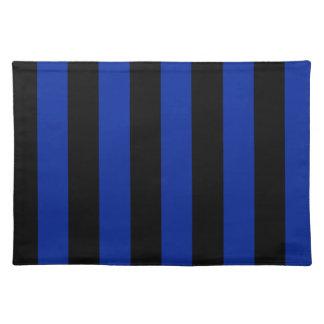 Rayas - negras y azul imperial mantel