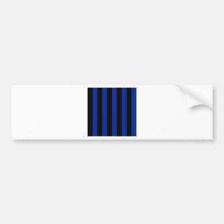 Rayas - negras y azul imperial pegatina para auto