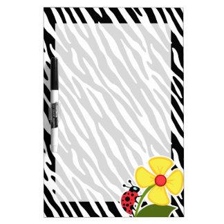 Rayas negras y blancas de la cebra Mariquitas Pizarra Blanca
