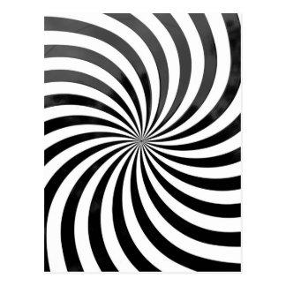 rayas negras y blancas del engaño óptico tarjetas postales