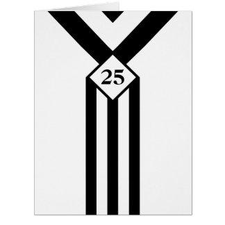 Rayas negras y galones con el monograma en blanco tarjeta de felicitación grande