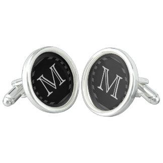 Rayas negras y grises del personalizar del gemelos