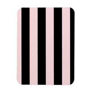 Rayas - negras y pálidas - rosa iman flexible