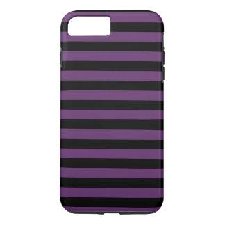 Rayas negras y púrpuras del gótico funda iPhone 7 plus