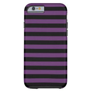 Rayas negras y púrpuras del gótico funda resistente iPhone 6