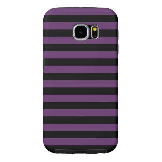 Rayas negras y púrpuras del gótico funda samsung galaxy s6