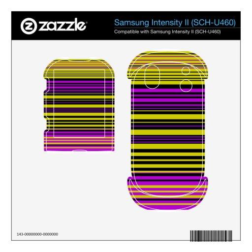 Rayas negras y púrpuras del oro contemporáneo samsung intensity calcomanías