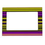 Rayas negras y púrpuras del oro marcos magneticos