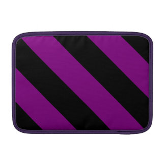 Rayas negras y púrpuras del peluquero fundas MacBook