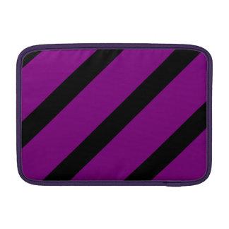 Rayas negras y púrpuras fundas MacBook