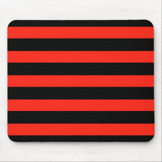 Rayas negras y rojas mouse pads
