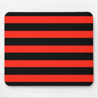 Rayas negras y rojas tapete de raton