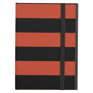 Rayas - negras y rojo en colores pastel oscuro