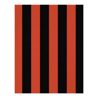 Rayas - negras y rojo en colores pastel oscuro membrete personalizado
