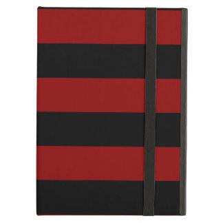 Rayas - negras y rojo oscuro