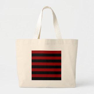 Rayas - negras y rojo oscuro bolsa