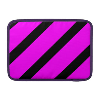Rayas negras y rosadas funda  MacBook
