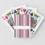 Rayas negras y rosadas personalizadas baraja