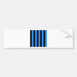 Rayas - negro y azul de Dodger Pegatina De Parachoque