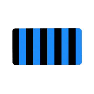 Rayas - negro y azul de Dodger Etiquetas De Dirección