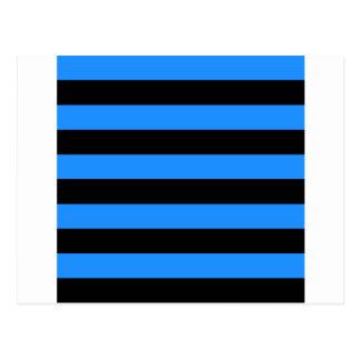 Rayas - negro y azul de Dodger Tarjeta Postal