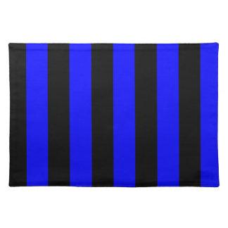 Rayas - negro y azul manteles