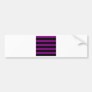 Rayas - negro y púrpura pegatina para auto