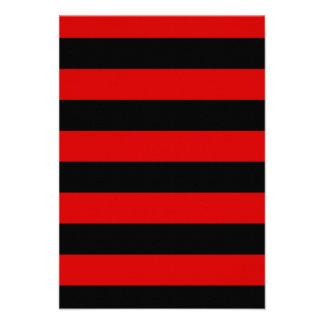 Rayas - negro y Rosso Corsa Invitación Personalizada