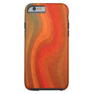 Rayas onduladas abstractas modernas funda para iPhone 6 tough