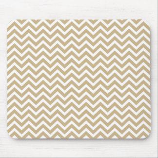Rayas onduladas de Chevron en oro y blanco del Tapete De Ratones