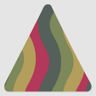 Rayas onduladas de la mezcla verde cubierta de pegatina triangular