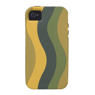 Rayas onduladas de la mezcla verde Case-Mate iPhone 4 carcasas