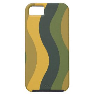 Rayas onduladas de la mezcla verde iPhone 5 Case-Mate carcasa
