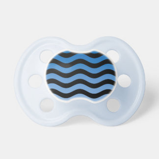 Rayas onduladas de las tonalidades azules chupetes para bebés