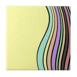 rayas onduladas del arco iris azulejos cerámicos