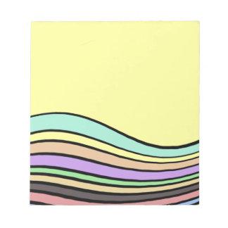 rayas onduladas del arco iris bloc de notas