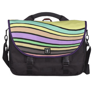 rayas onduladas del arco iris bolsas de portátil