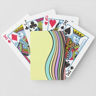 rayas onduladas del arco iris baraja cartas de poker